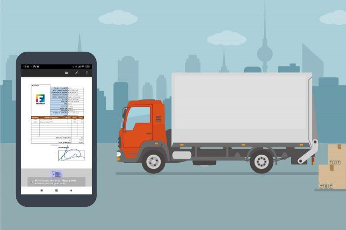 Digitalización de documentación en el transporte de mercancías